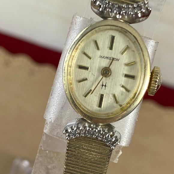 Vintage 1950's Hamilton Diamond Watch 10K GF